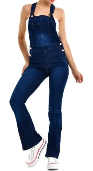 Jardinero Pantalon Jean Overall Oxford Largo Elastizados