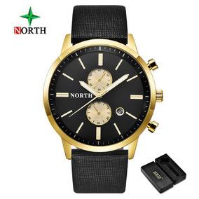 Relógios Masculino North A Prova D,água Pulseira De Couro