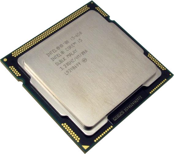 Processador gamer Intel Core i5-650 BX80616I5650 de 2 núcleos e 3.4GHz de frequência com gráfica integrada