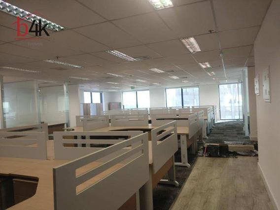Sala Para Alugar No Brooklin Com 560 M², 10 Vagas, Por R$ 40.000/mês - São Paulo/sp - Sa0273