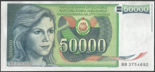 Imagen 1 de 2 de Yugoeslavia 50.000 Dinara 1 May 1988 P96