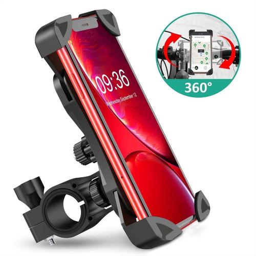 Imagen 1 de 7 de  Soporte Teléfono Universal Bicicleta / Moto 360° De Rotació