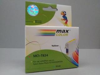 Cartucho Max Color Mci-t824 Para Epson X 10 Unidades