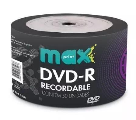 50 Dvd-r Maxprint 4,7 Gb Printable