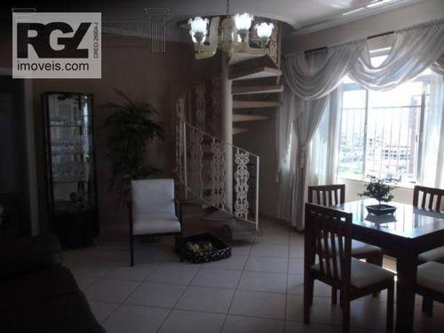 Imagem 1 de 30 de Cobertura Residencial À Venda, Gonzaga, Santos. - Co0179