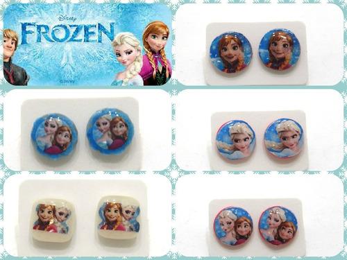 2 Pares Zarcillos Frozen Para Fanáticas Accesorios, Cotillón