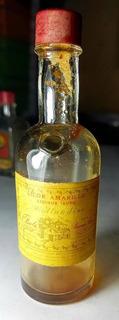 Antigua Botellita De Licor Amarillo Hollandine De Bols
