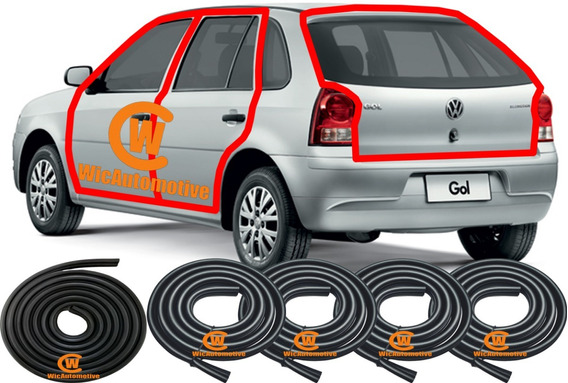Kit Borrachas Portas E P-malas M.original Gol G2 G3 G4 4p Gp