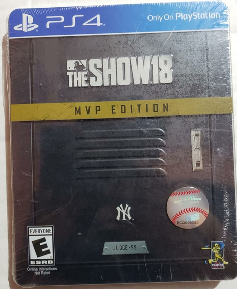 Mlb The Show 18 - Steelbox - Play Station 4 - Msi