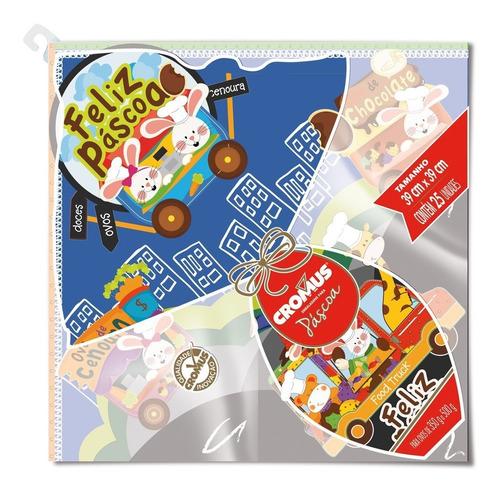 Imagem 1 de 3 de 5 Sacos P/embalar Ovo Pascoa Feliz Pascoa 500g