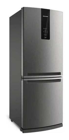 Geladeira frost free Brastemp BRE57A inox com freezer 443L 220V