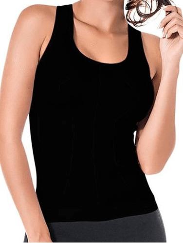 Imagem 1 de 2 de Blusa Regata Feminina Calvin Klein Nadador Corte A Laser Ma3