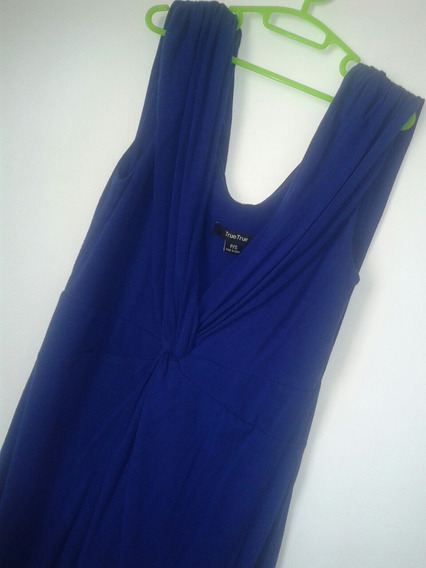 Vestido Azul Corto Talla S Una Sola Postura