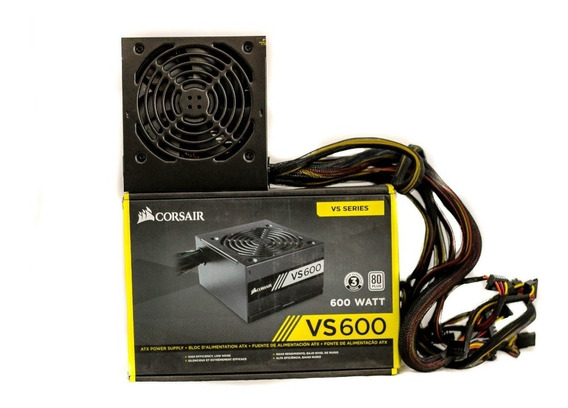 Fonte Corsair Vs600 600 Watts Pc Gamer 80 Plus