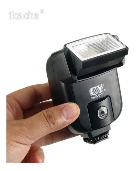 Flash Simples Universal Cy20 Câmera Canon Nikon P. Entrega