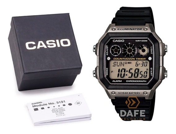 Relógio Casio Masculino Ae-1300wh Original C/ Caixa E Nf