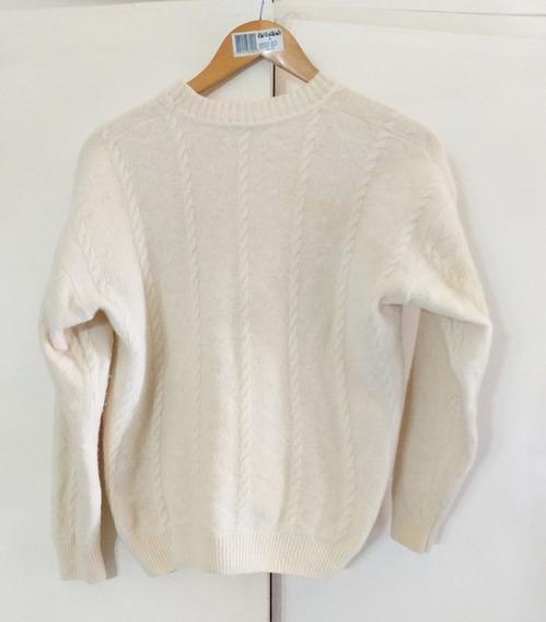Sweater Lana Piel De Conejo Mujer Impecable M Matizado