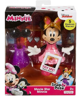 Fisher Price Muñeca Minnie Estrella De Cine Disney Juguete