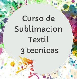 Curso De Sublimacion Textil
