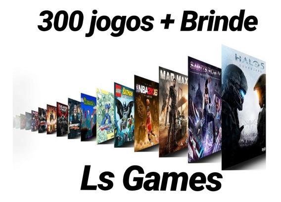 Pacote Com 300 Jogos Midia Digital Xbox One + Brinde