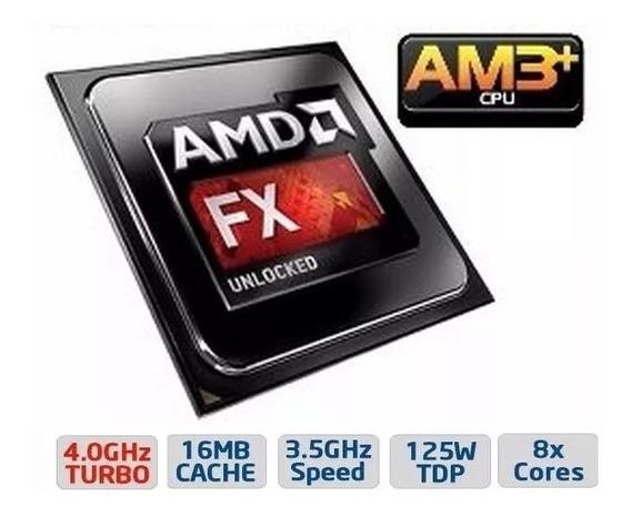 Processador Fx-8320 Octa Black 3.5ghz (4ghz Turbo) 16mb Am3+