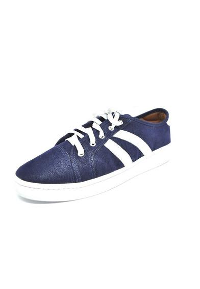 Sapatos Femininos Tenis Casual Azul Branco Dani K
