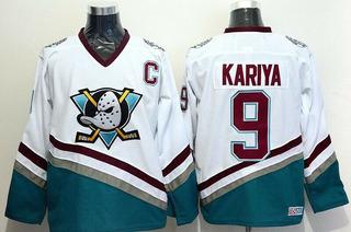 Jersey Anaheim Mighty Ducks Kariya 9 Hockey Pta Entrega Gg