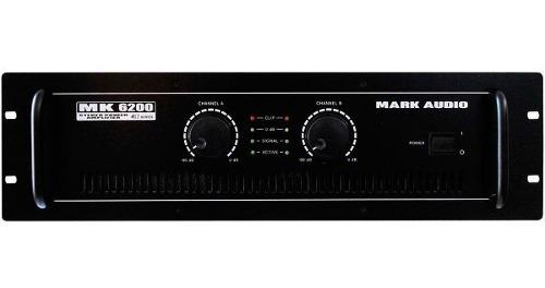 Amplificador 4 Ohms Mk 6200 Mark Audio 1200w