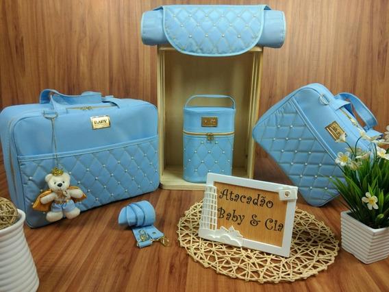 Bolsas De Bebe Kit 4 Peças Luxo + Urso