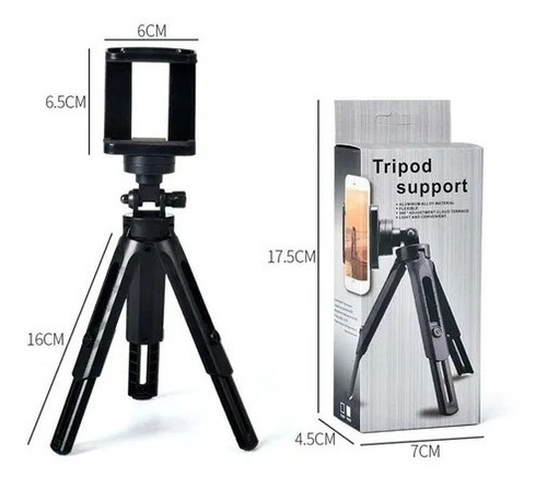 Mini Tripé Para Celular Câmera Makeup Youtuber Live