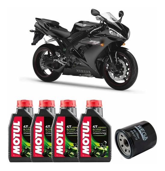 Troca De Óleo Motul 5100 10w-40 Moto Yamaha R1 1000 Até 2008