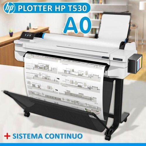 Plotter Hp T530 90cm A0-a4  Sistema Continuo Garantía 1 Año