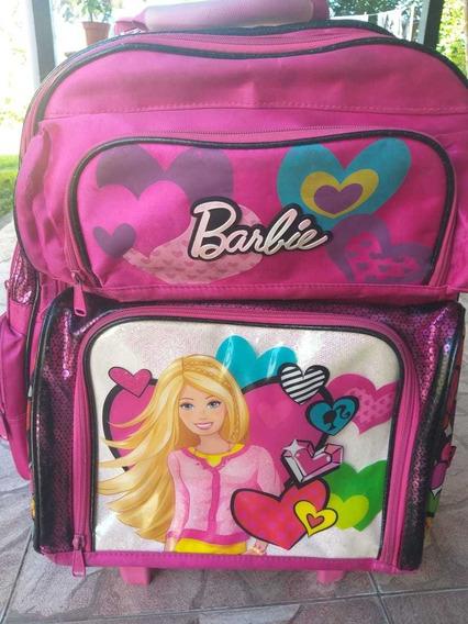 Mochila Carrito Barbie Grande 17 Pulgadas