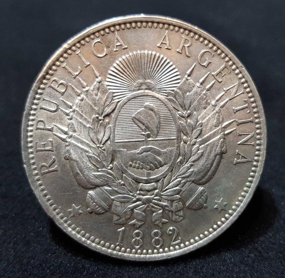 Moneda Argentina 1 Peso. Patacón. Plata. Año 1882. 55017