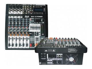 Gbr Mix 12 Power Consola Potenciada 8 Ch 400 W Mp3 Todelec
