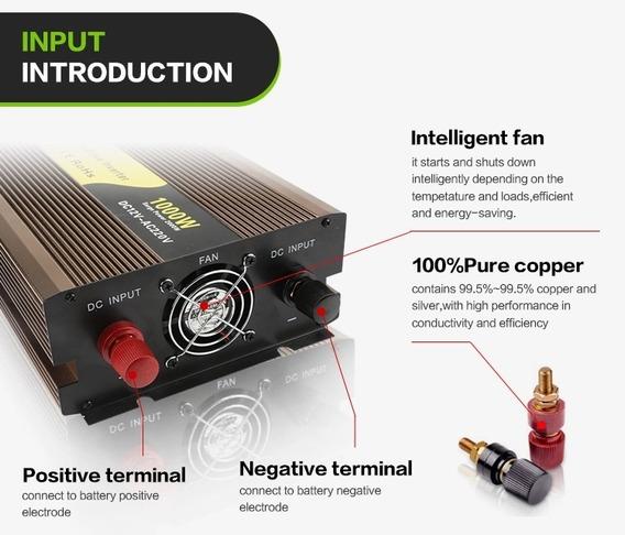 Inversor Senoidal Pura 300w Pico 600w 12v 110v Rogerele