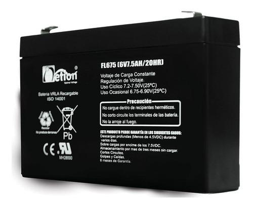 Bateria Vrla Netion 6v 7.5ah Recargable Sellada