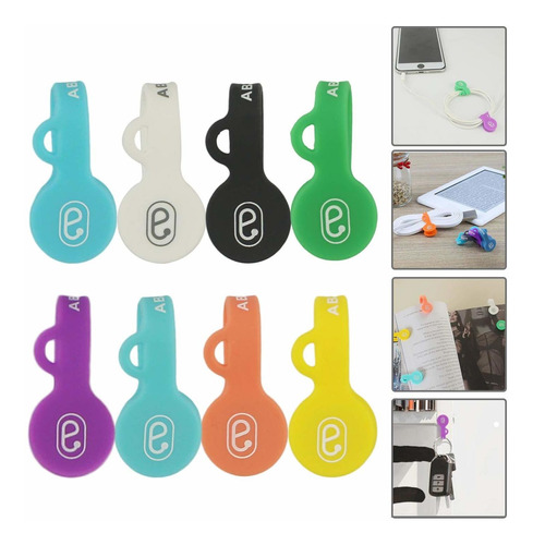Packs Magnetic Cable Clips Earbuds Cord Organizers Ee...