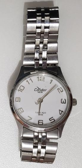Relógio Condor Masculino Aço Va20449 A Prova D