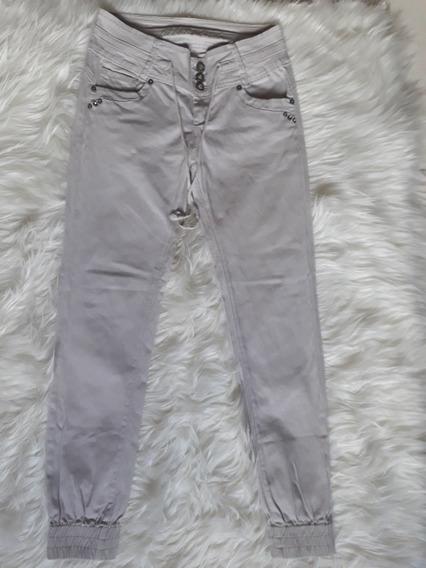 Pantalón Jean Kaki De Dama Levanta Cola Strech Talla M (7v)