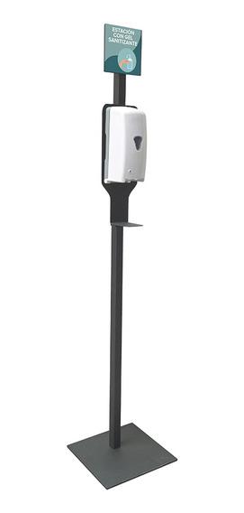 Pedestal Sary Para Dispensador Gel Antibacterial Gun Metal
