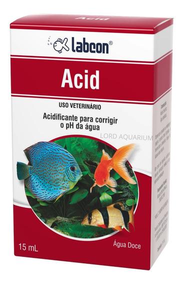 Labcon Acid 15ml - Acidificante Para Aquário De Água Doce