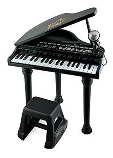 Piano De Cola Electrónico Con Micrófono Desmontable Y Teclas