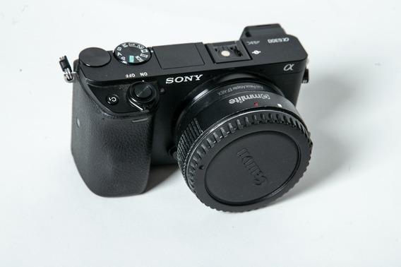 Sony A6300+metabone Lentes Canon+duas Baterias