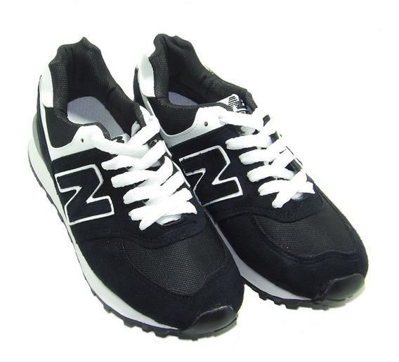 Zapatillas New Style Negro Gamuza Sintetica - Calzados Union