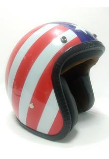 Casco Motociclista Abierto Talla M 57/58 Cms Único.