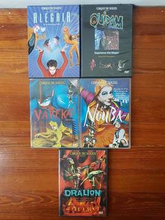 Colección De 5 Dvds Del Cirque Du Soleil