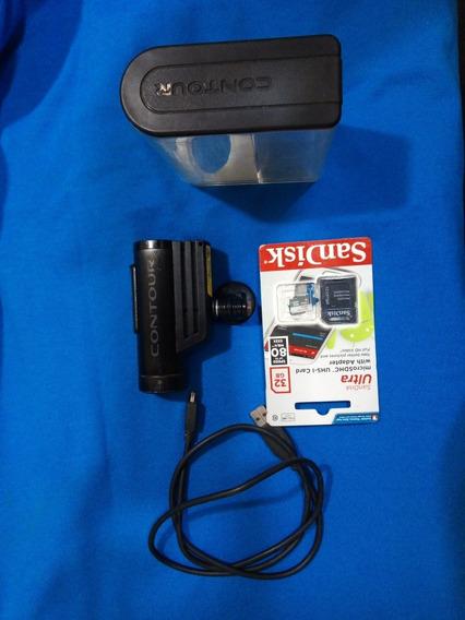 Câmera Contour Mod. 1600 + Cabo Usb + Cartão 32 Gb Classe 10