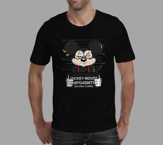 Camiseta Mickey - Preta