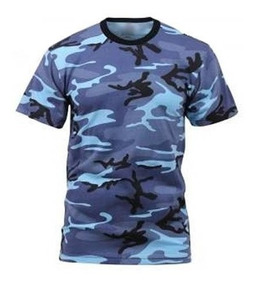 Remera Tactica Camuflada Azul Sky Blue Servicio Penitenciari